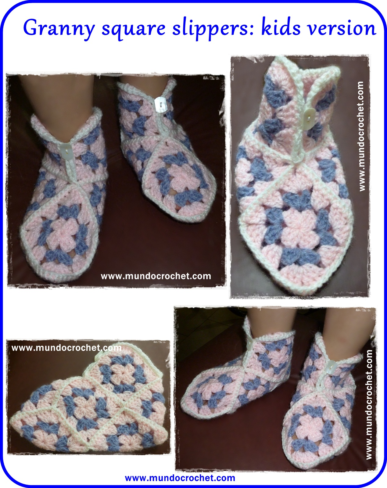 Granny square slippers