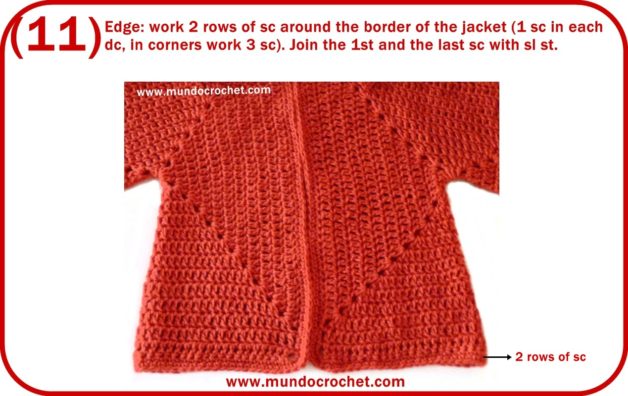 Crochet hexagon jacket/Crochet hexagon sweater