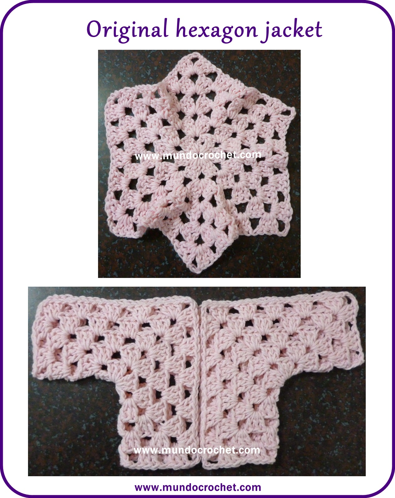 Crochet baby hexagon jacket