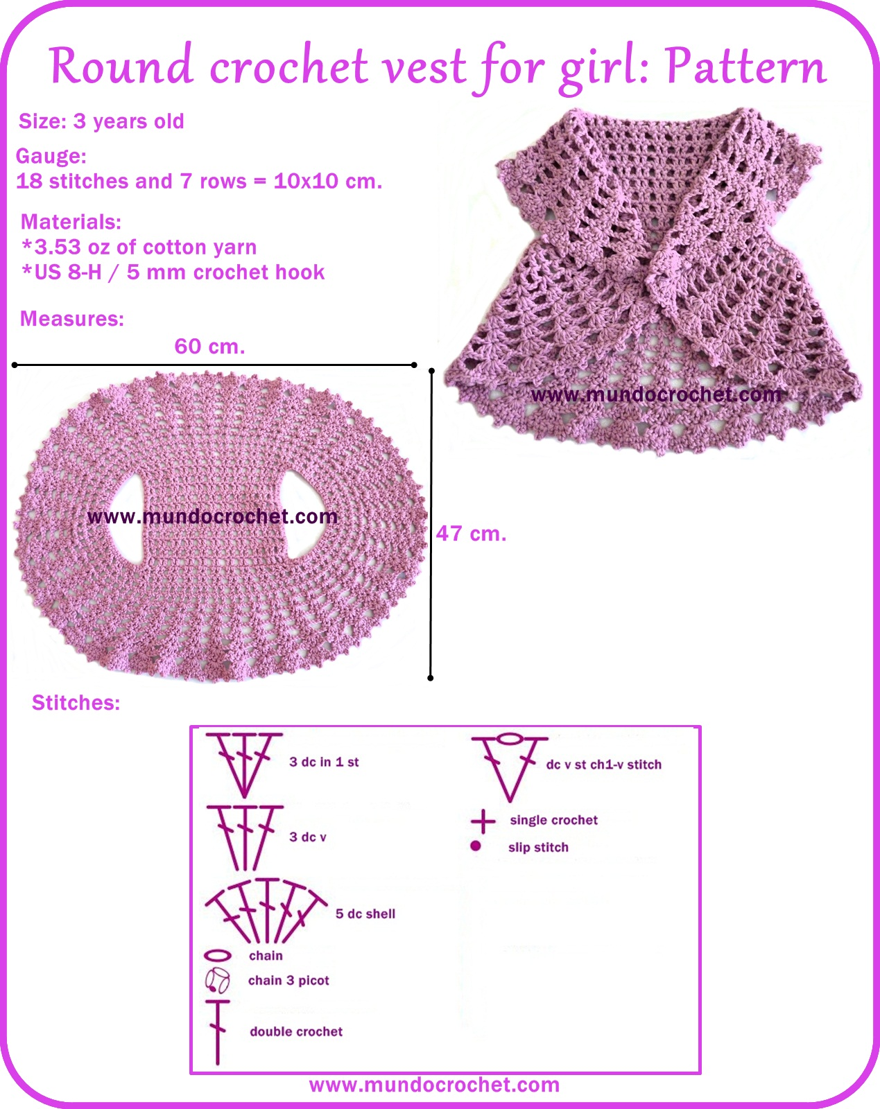 Crochet Circle : crochet circle vest pattern Car Tuning