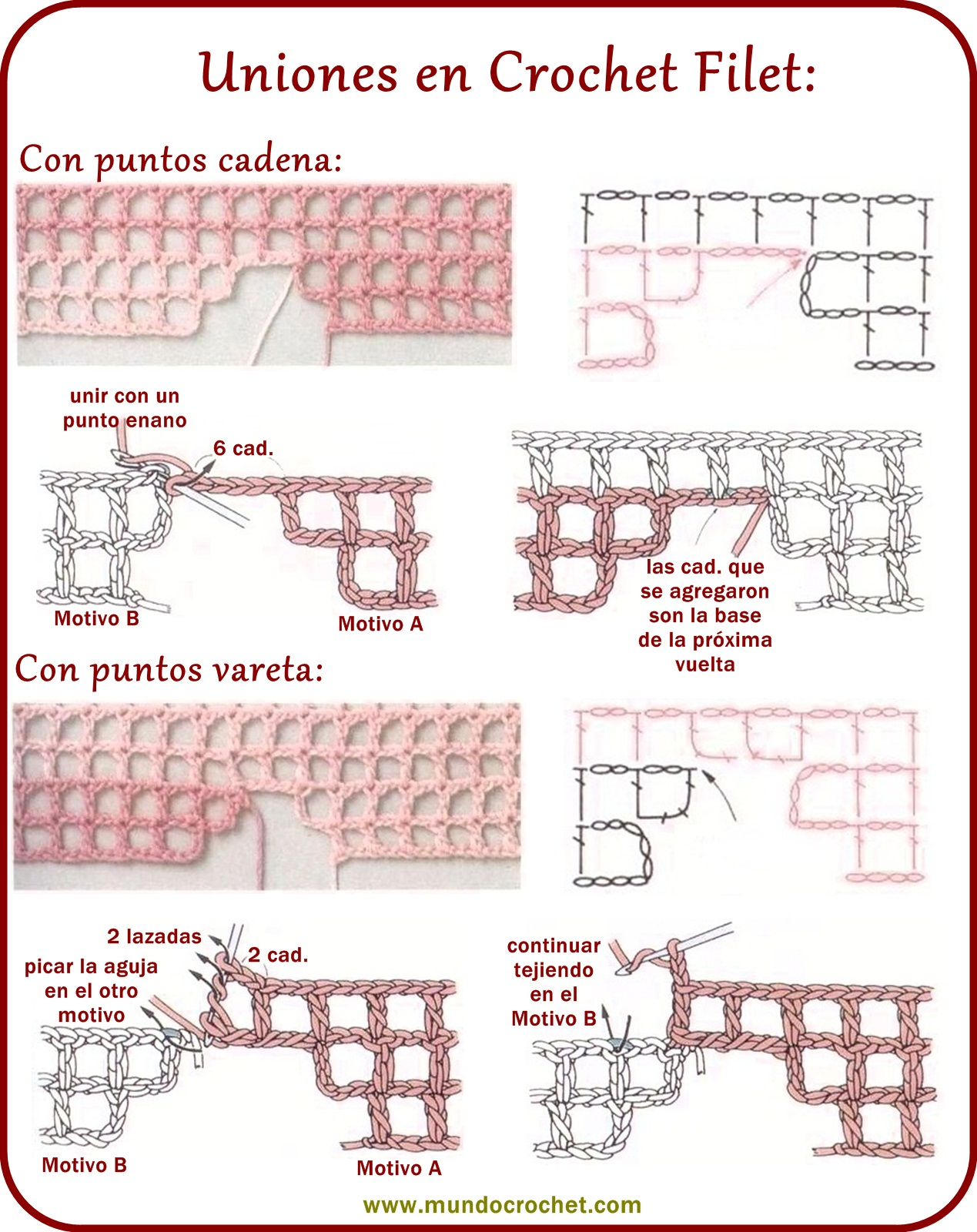 Cómo tejer Crochet Filet