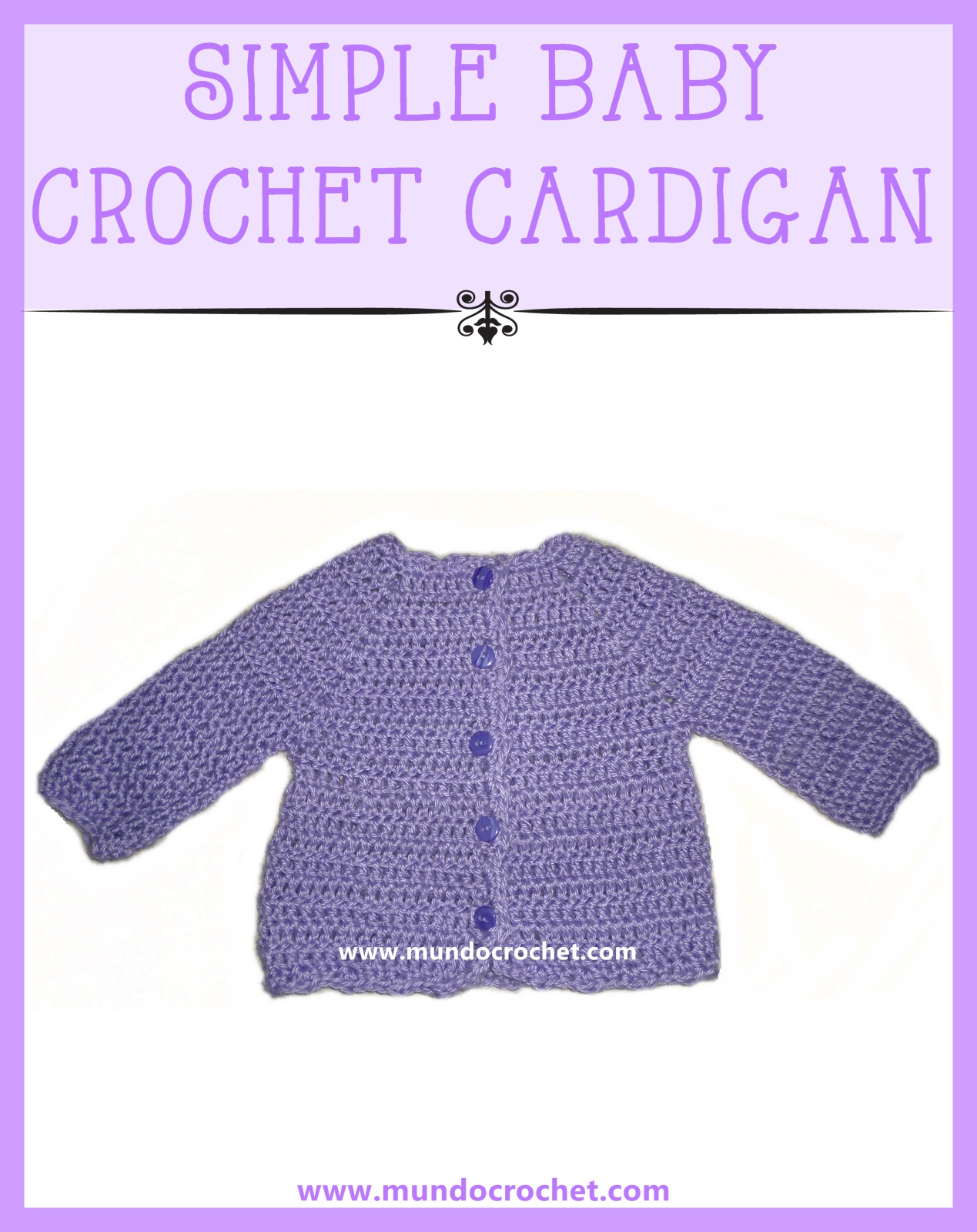 Simple baby crochet cardigan or sweater