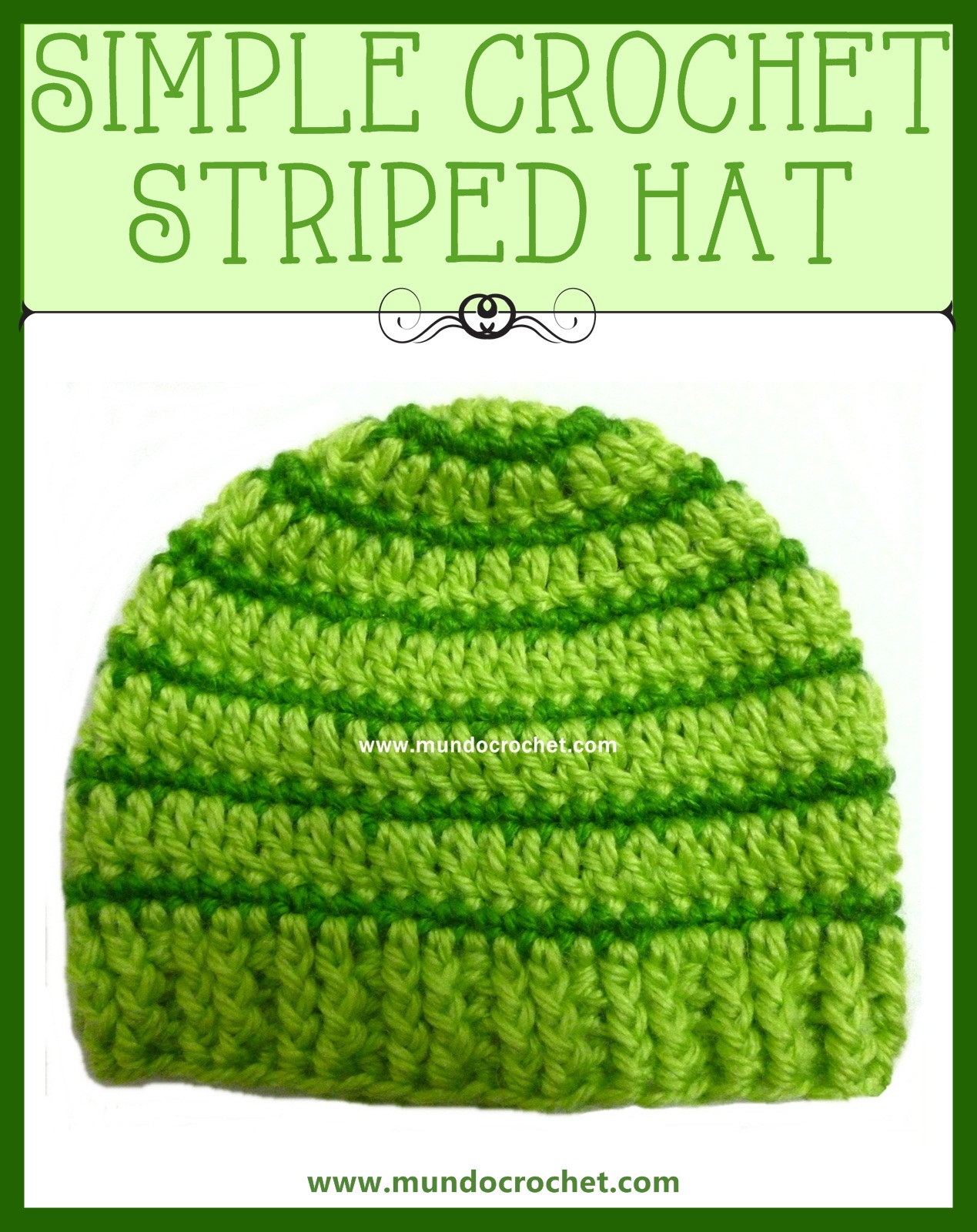 Crochet striped hat for baby