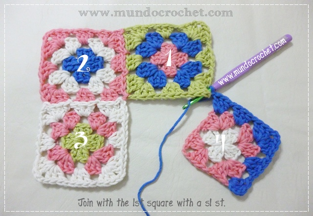 How to join granny squares11