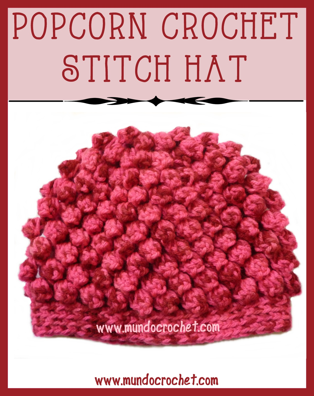 Crochet Stitches Wiki : Free Popcorn Stitch Crochet Hat Patterns