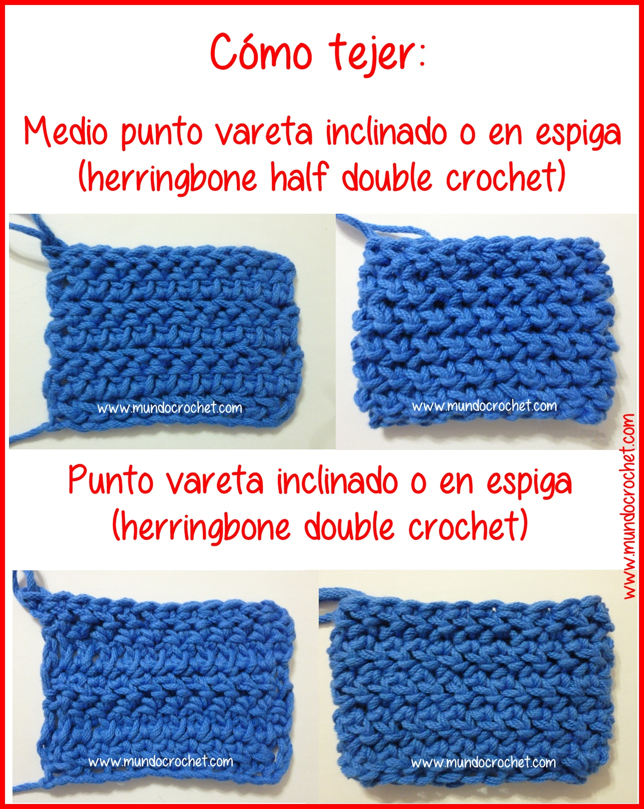 Herringbone Half Double Crochet Stitch Herringbone Half Double